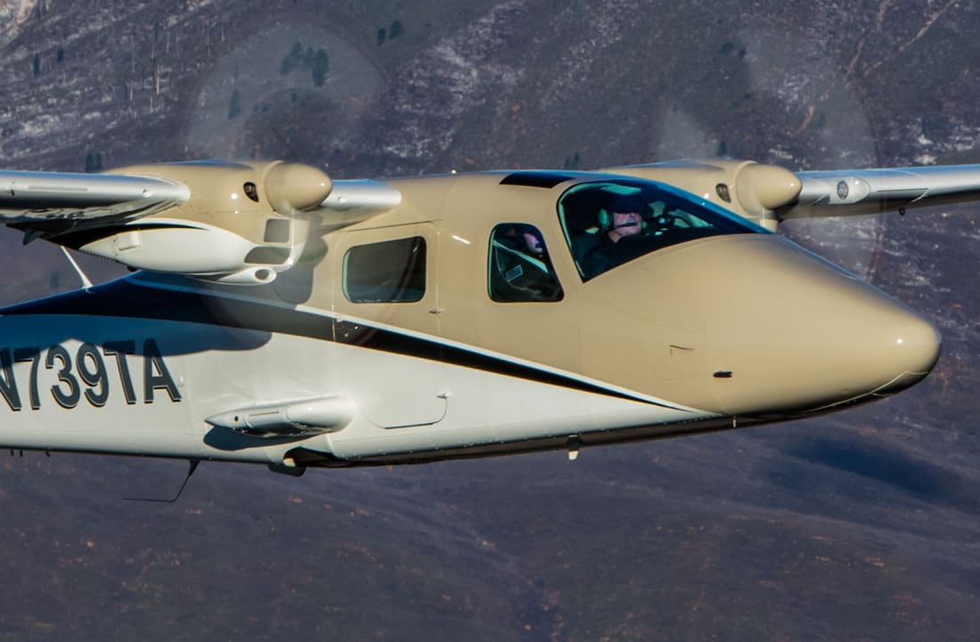 A Tecnam P2006T airplane in use with Upper Limit Aviation.